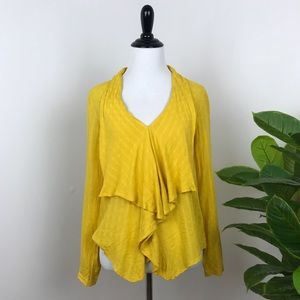 Anthropologie 11.1 tylho marigold yellow blouse